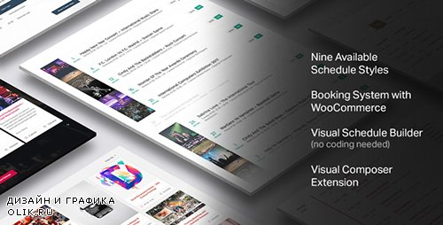 CodeCanyon - Events Schedule v1.8.1 - WordPress Plugin - 14907462