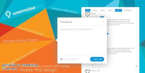 CodeCanyon - Usernoise Pro v5.0.1 - Modal Feedback & Contact form - 1420436