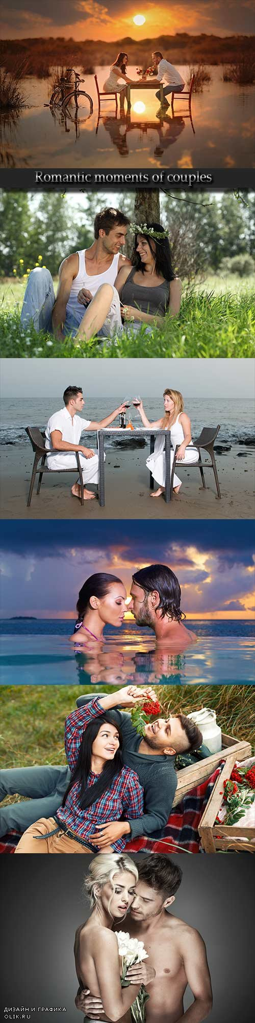 Romantic moments of couples