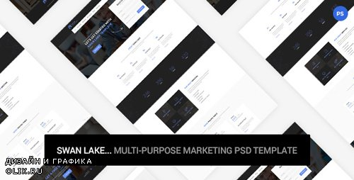 Swan Lake - Marketing PSD Template 19253343
