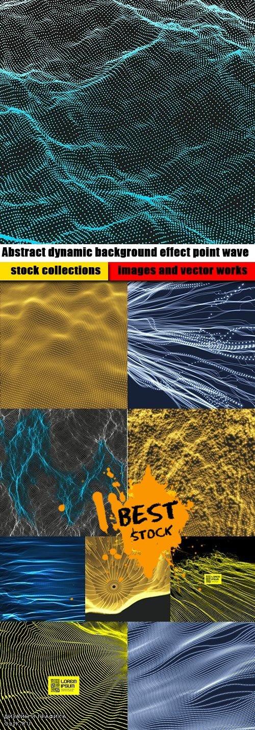 Abstract dynamic background effect point wave