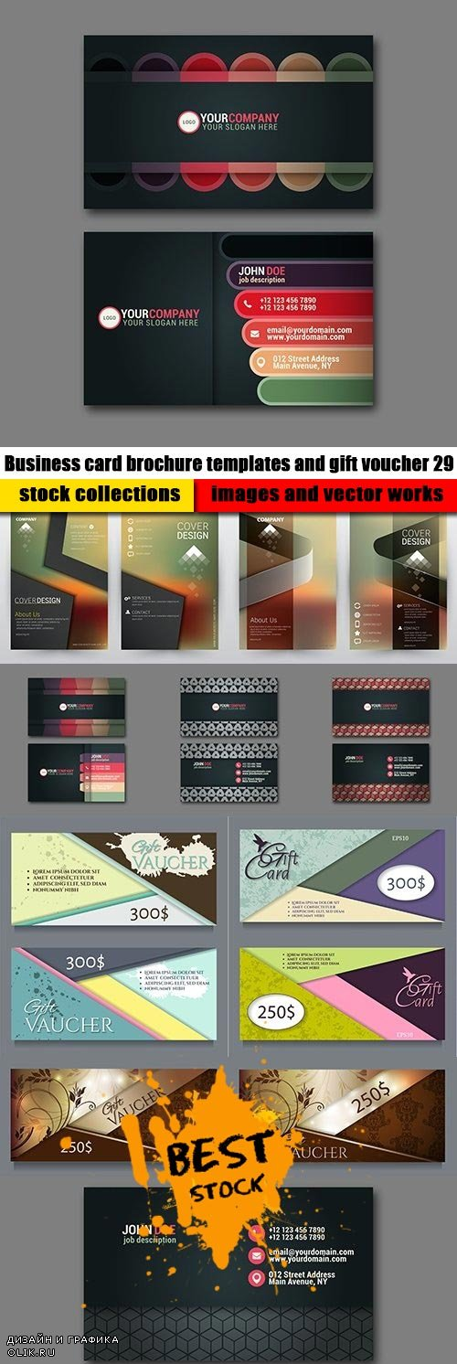 Business card brochure templates and gift voucher 29