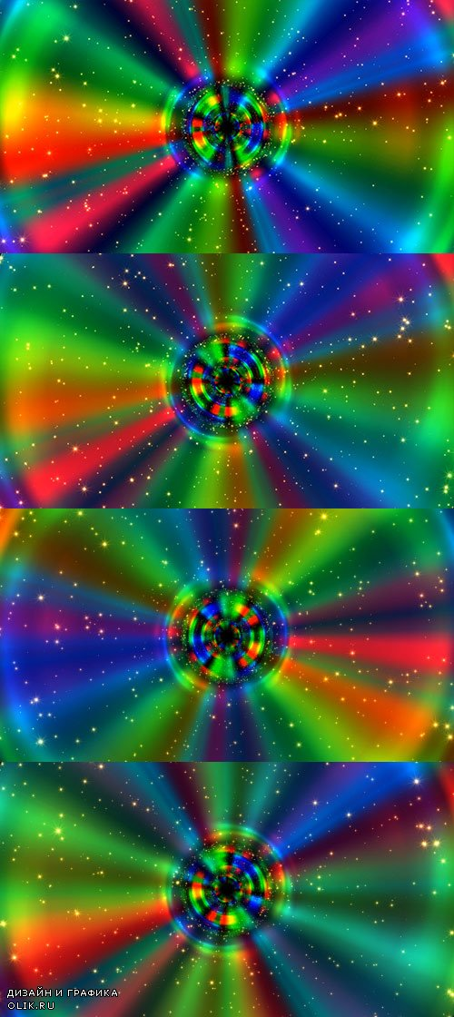 Hypnotic Rainbow Ring Rays