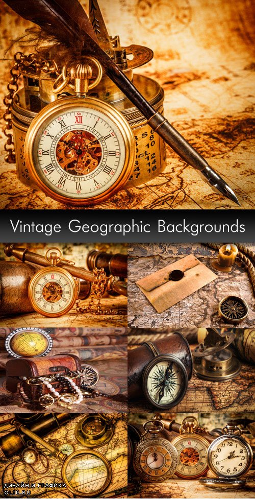 Vintage Geographic Backgrounds