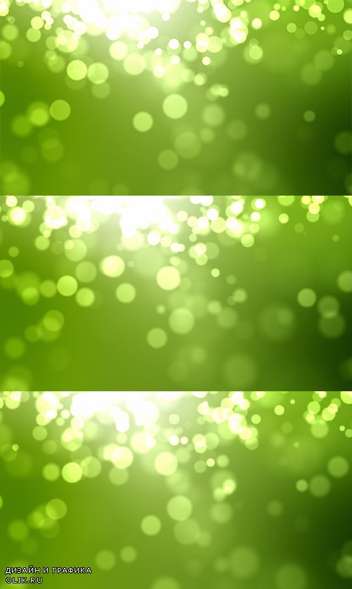 iStock Moving Particles Loop - Green
