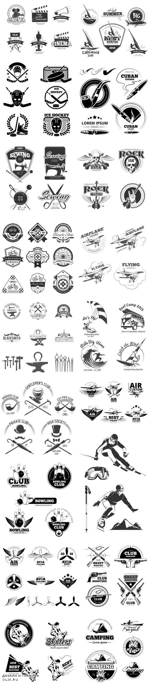Emblem and logo set - 20xEPS
