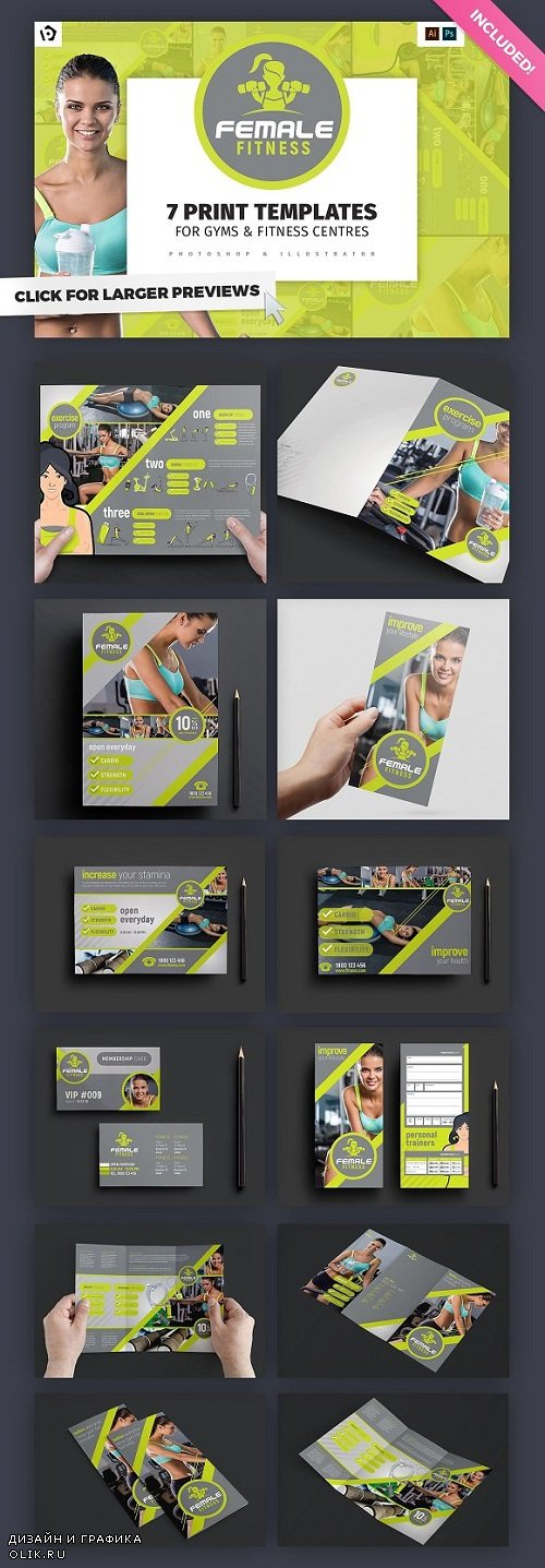Female Fitness Templates Pack 821645