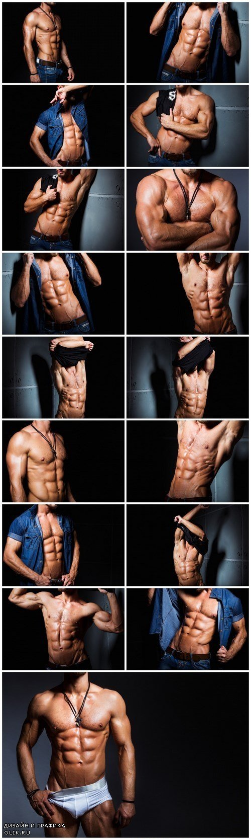 Muscular and sexy torso of young man having perfect abs 2 - 18xUHQ JPEG