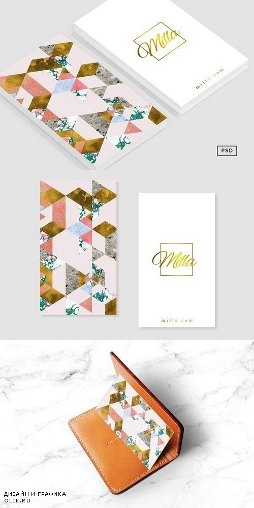 Marble + Geometry Business Card 1209307