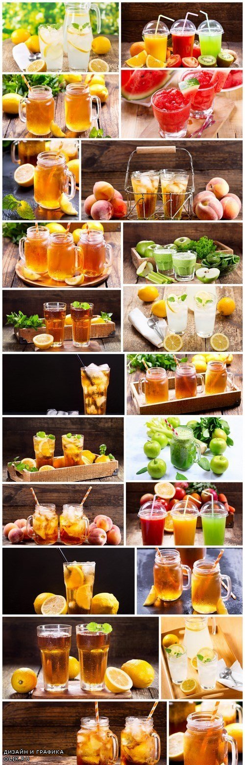 Fresh juices with fruits and vegetables 2 - 22xUHQ JPEG Photo Stock