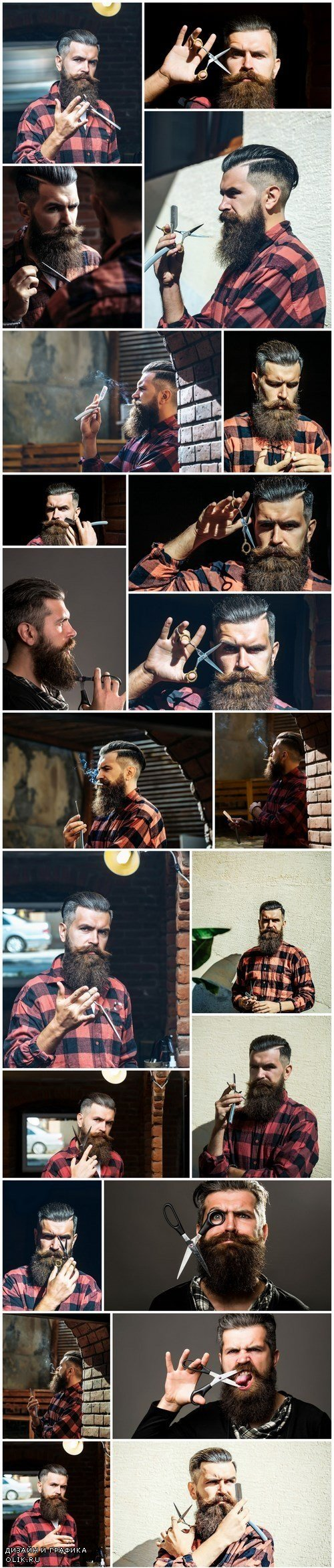 Man with Beard, Brutal Style, Hipster 4 - 25xUHQ JPEG Photo Stock