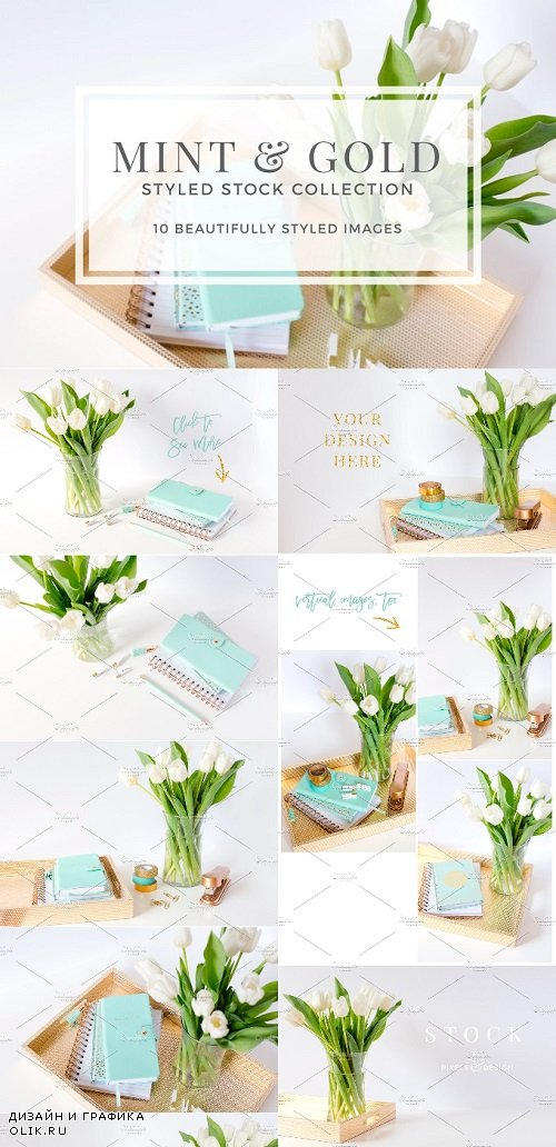 Mint & Gold Styled Stock