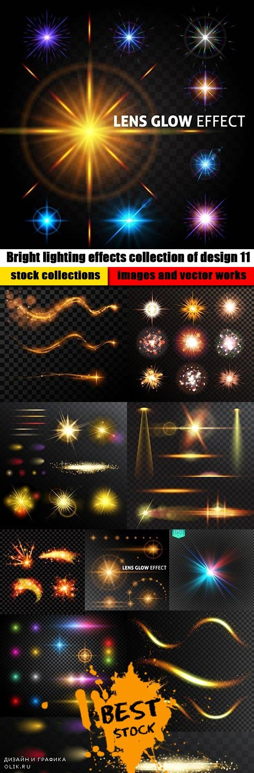 Bright lighting effects collection of design 11