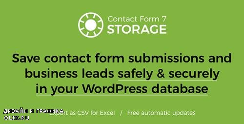 CodeCanyon - Storage for Contact Form 7 v1.6.0 - 7806229