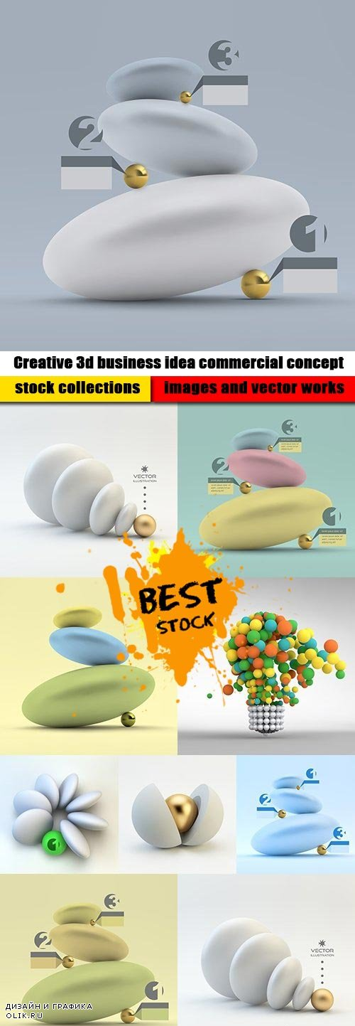 Creative 3d business idea commercial concept