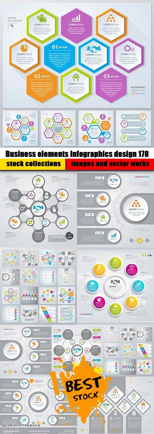 Business elements Infographics design 178