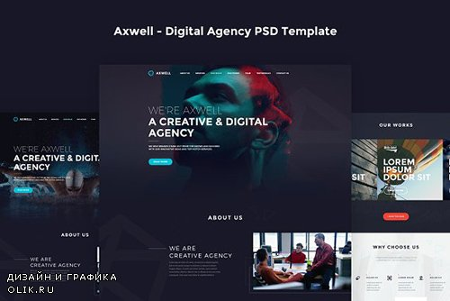 Axwell - Digital Agency PSD Template - CM 784095