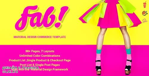 ThemeForest - FAB! v1.1.0 - Material Design Ecommerce HTML Template - 12869260