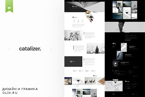 Catalyzer - Web PSD Template - CM 1293497