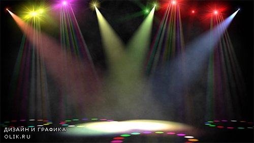 Swirling Colored Stage Spotlights