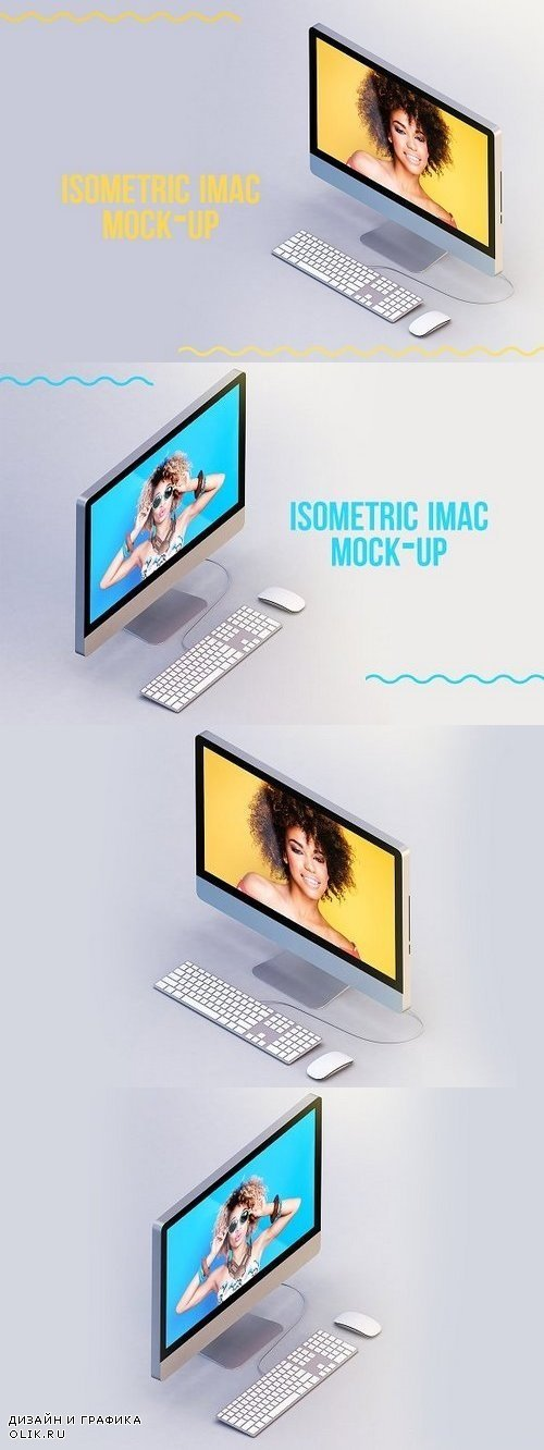 Imac Isometric Mock-up 1285797