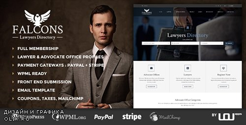 ThemeForest - Falcons v1.1.4 - Directory for Lawyers & Law Firms - 16570999