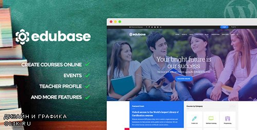 ThemeForest - Edubase v1.4.1 - Course, Learning, Event WordPress Theme - 12626634