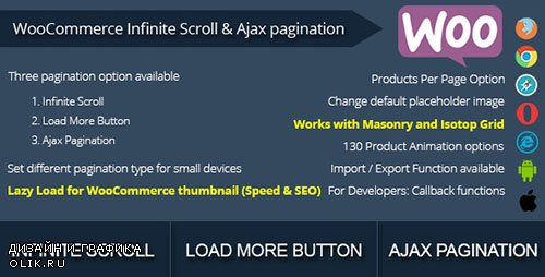CodeCanyon - WooCommerce Infinite Scroll and Ajax Pagination v1.1 - 10192075