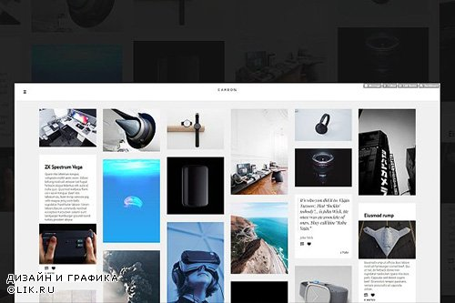 Carbon - Tumblr Theme - CM 1273660