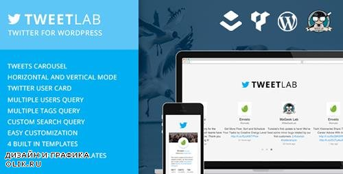 CodeCanyon - Tweetlab v2.0.2 - Twitter slider & Usercard for WordPress - 5871651