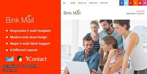 ThemeForest - Bink Mail v1.0 - Responsive E-mail Template + Themebuilder Access - 9999633