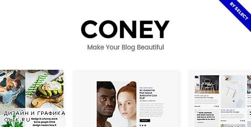 ThemeForest - Coney v1.1 - A Trendy Theme for Blogs and Magazines - 19306672