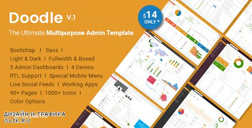 ThemeForest - Doodle v1.0 - The Ultimate Multipurpose Admin Template (Update: 12 June 17) - 19686652
