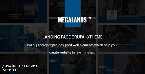 ThemeForest - MegaLands v1.0 - Multipurpose Landing Pages Drupal 8 Theme - 19593932