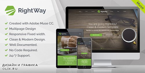 ThemeForest - RightWay v1.0 - Corporate Multipurpose Muse Template - 19834053
