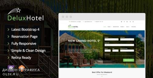 ThemeForest - DeluxHotel v1.0.1 - Responsive Bootstrap 4 Template For Hotels - 18222777