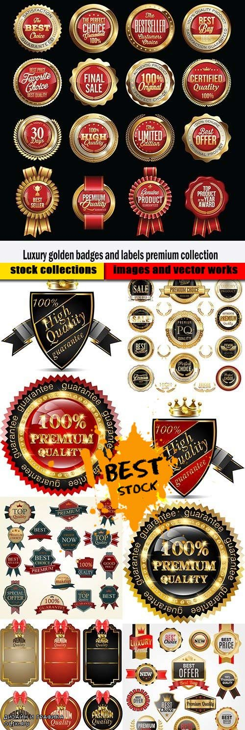 Luxury golden badges and labels premium collection