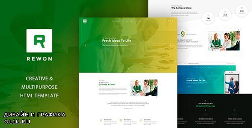 ThemeForest - REWON - Multipurpose HTML Template (Update: 26 March 17) - 19319174