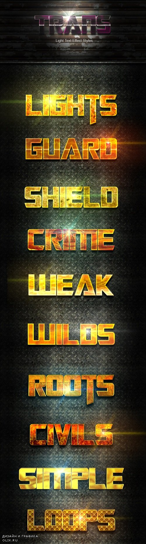10 PHSP GOLD Text Effect Styles Vol 32 20200746