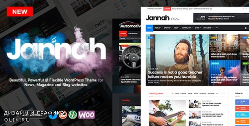 ThemeForest - Jannah v1.0.2 - WordPress News Magazine Blog & BuddyPress Theme - 19659555
