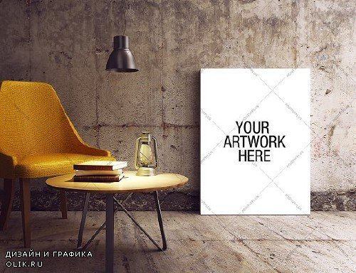 Canvas Mockup Industrial Style - 974585