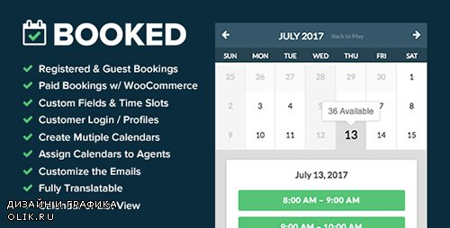 CodeCanyon - Booked v2.0.2 - Appointment Booking for WordPress - 9466968