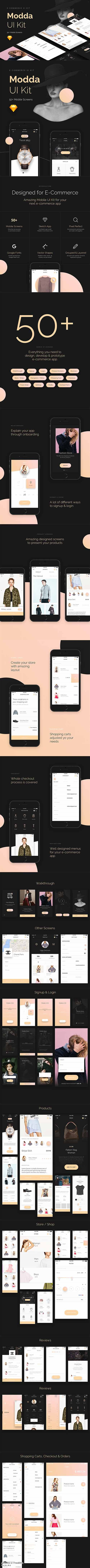 Modda - E-Commerce Mobile UI Kit - CM 1624640