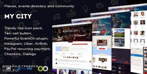 ThemeForest - MyCity v7.9.0 - Geolocation directory and events guide - 12265153