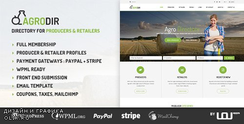 ThemeForest - Agrodir v1.0.6 - Directory for Producers & Retailers - 17273490