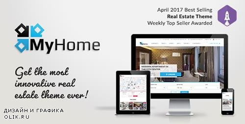 ThemeForest - MyHome v1.0.8 - Real Estate WordPress Theme - 19508653