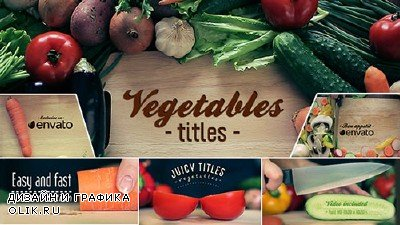 Vegetables Titles - Project for AFEFS (Videohive)