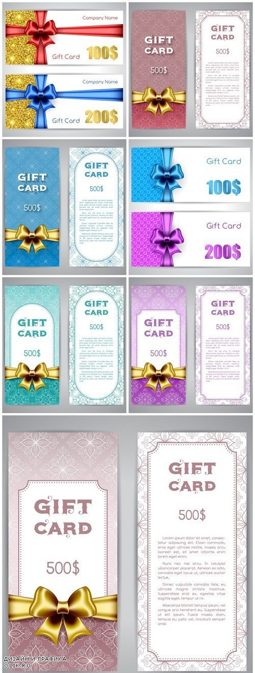 Gift card Template - 8 Vector