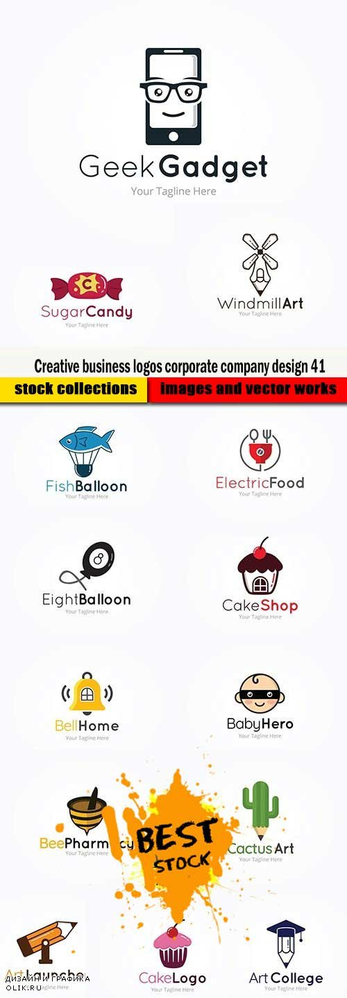 Creative business logos corporate company design 41