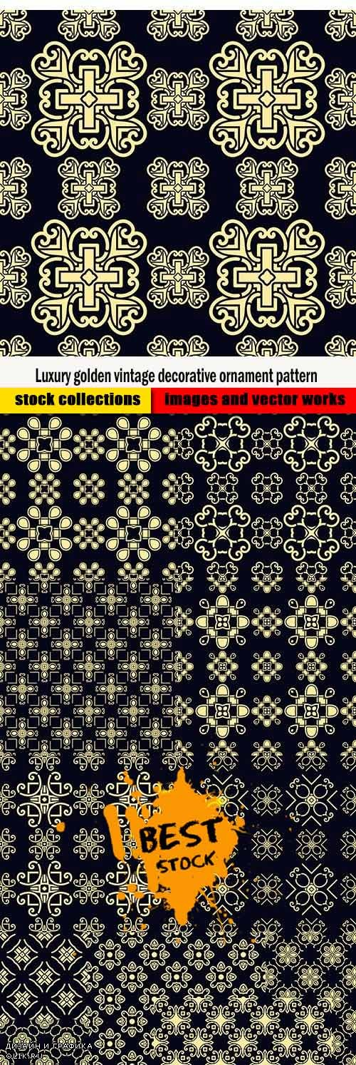 Luxury golden vintage decorative ornament pattern